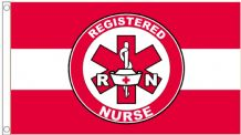 Registered Nurse First Aid and Health and Safety 5'x3' (150cm x 90cm) Flag